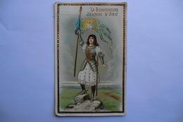 CPA HISTOIRE JEANNE D ARC. La Bienheureuse Jeanne D Arc. Carte Glacée Et Dorée. - History
