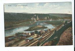 Yvoir - Vue Panoramique Sur Gare Chemin Fer - Colorisée - Circulé 1927 - Yvoir