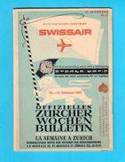 ZURICH - 1959. Weekly Bulletin * Original Vintage Advertising Publication * Suisse Schweiz Svizzera * Swissair Omega ... - Europe
