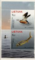 LITHUANIE LIETUVA 2006, CANARD Et ESTURGEON, 2 Valeurs,  Neufs / Mint. R1186 - Lituanie