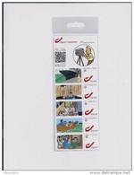 BELGIQUE - BELGIE Mijn Zegel DUOSTAMP  -  Strook Van 5 Postzegels KUIFJE - TINTIN  Geseald - Private Stamps