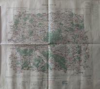 Carte Géographique Dressée Par Ordre Du Ministre De L'Intérieur - Lunéville Et Ses Environs - Année 1916 - Mapas Geográficas