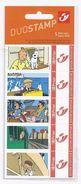 BELGIQUE - BELGIE Mijn Zegel DUOSTAMP  -  Strook Van 5 Postzegels KUIFJE - TINTIN  Geseald - Belgique