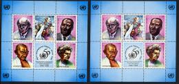 KYRGYZSTAN Kirghizistan 1998, Droits De L'Homme, Skharov, Gandhi, E; Roosevelt, 2 Feuillets, Neufs / Mint. R1068 - Kirghizistan