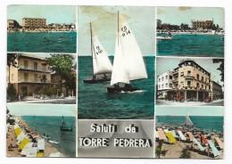 SALUTI DA TORRE PEDRERA - VEDUTE   - VIAGGIATA FG - Rimini