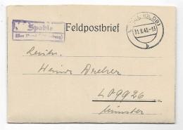 FELDPOSTBRIEF DA VAREL ANNO 1943 - Germania