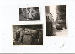 3 PHOTOS ANNEES 60 (2 CV CITROEN) TIREES D'UN ALBUM - Cars