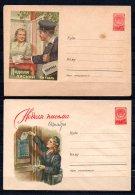 Russie Lot De 2 Entiers Postaux Théme Facteurs - 1923-1991 URSS