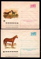 Russie Lot De 2 Entiers Postaux Théme Chevaux - 1923-1991 URSS