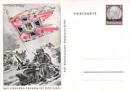 Germany Deutsche Third Reich Postal Stationery Mit Unseren Fahnen Ist Der Sieg FREE SHIPPING WORLDWIDE - Ganzsachen