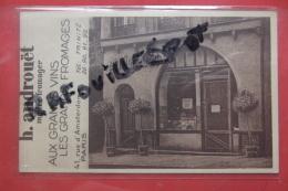 "Cp Pub Androuet "" Aux Grands Vins Les Grands Fromages"" - Advertising"