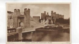 Postcard - Conway Castle & Suspension Tuck Card No Number  - Very Good - Postcards