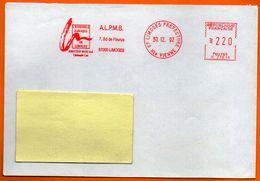 87 LIMOGES    L'ENSEMBLE BAROQUE   1992 Lettre Coupée N° GG 346 - EMA ( Maquina De Huellas A Franquear)