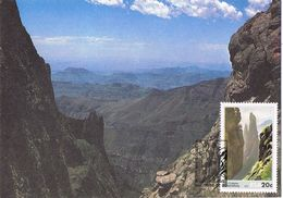 25714. Tarjeta Maxima RSA (Republica South Africa) 1986. Columna Drakensberg - África Del Sur (1961-...)