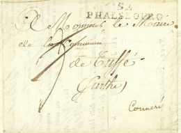 CAMPAGNE DE FRANCE - 24e REGIMENT D'INFANTERIE LEGERE – 1814 Metz Vacher TUFFE Sarthe Phalsbourg - Marcophilie (Lettres)