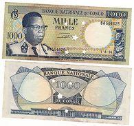 CONGO Billet 1000 FRANCS 1.8. 1964 ANNULE P8 QUASI NEUF // AU - Banconote