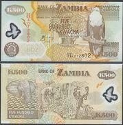 Zambia Zambia Banconota 500 Kwacha 2009 POLIMERO UNC NUOVA - Banknotes