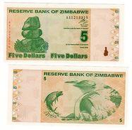 Zimbabwe Banconota 5 Dollari 2009 NOUVEAU NUOVO NUOVA UNC - Bankbiljetten