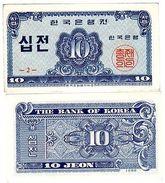Coree Du SUD SOUTH KOREA Billet 10 JEON 1962 P28 UNC NEUF - Banknotes