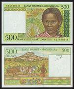 MADAGASCAR Billet 500 FRANCS ND (1994) P75 NEUF UNC - Banconote