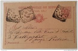 Cartolina Postale 15 Centesimi - Stamped Stationery