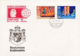 1992 LIECHTENSTEIN EUROPA FDC CEPT - 1992