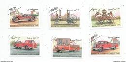 Timbre, VEHICULES DE POMPIERS , Pompier , Republica Saharaui Correos , LOT DE 6 TIMBRES - Autres - Afrique