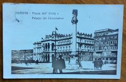 TRIESTE TIMBRO AUSTRIACO DEL  20/8/20 SU CARTOLINA  PER BOLOGNA - Storia Postale