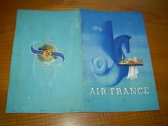 Menu Air France De L'escale Du Caire Sur Le Vol Paris Tunis Tananarive Le 31 Juillet 1955;avion,Pégase & Plateau Repas - Menus
