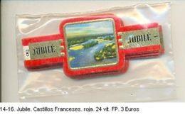 Vitolas Jubile. Castillos Franceses. Rojo. F.P. Ref. 14-1416 - Vitolas (Anillas De Puros)