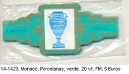 Vitolas Monaco, Porcelanas Verde. F.M. Ref. 14-1423 - Vitolas (Anillas De Puros)