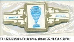 Vitolas Monaco, Porcelanas Blanco. F.M. Ref. 14-1424 - Vitolas (Anillas De Puros)