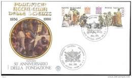 1986 - VATICAN  - PONTIFICIA ACCADEMIA DELLE SCIENZE - FDC FILAGRANO - FDC