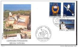 1991 - VATICAN  - SPECOLA VATICANA - FDC - FDC