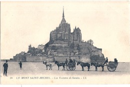 ----  50 --- LE MONT SAINT MICHEL  Voiture à Genets - TTB écrite - Le Mont Saint Michel