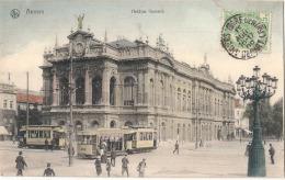 ---- BELGIQUE ---  ANVERS  Théatre Flamand Et Tramways  - Belle Colorisation - Neuve Excellent état - Antwerpen