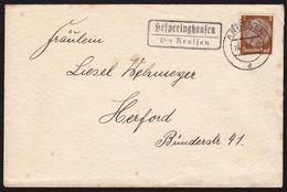 """Landpoststempel  """"Hesperinghausen über Arolsen""""  1939 Fernbrief - Deutschland"""