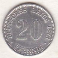Empire. 20 Pfennig 1873 D (MUNICH) , En Argent - [ 2] 1871-1918 : Empire Allemand