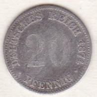 Empire. 20 Pfennig 1874 B (HANNOVER) , En Argent - [ 2] 1871-1918: Deutsches Kaiserreich