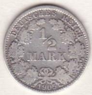 Empire. ½ Mark 1905 J (HAMBOURG) , En Argent - [ 2] 1871-1918: Deutsches Kaiserreich