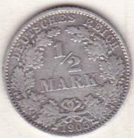 Empire. ½ Mark 1905 D (MUNICH) , En Argent - [ 2] 1871-1918: Deutsches Kaiserreich