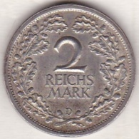 2 Reichsmark 1926  D (MUNICH) , En Argent - [ 3] 1918-1933 : Weimar Republic