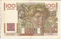 BILLET  FRANCE  100F Jeune Paysan   A 29 6 1950 A - 1871-1952 Antichi Franchi Circolanti Nel XX Secolo