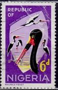 Nigeria, 1965-66, Saddle-billed Storks, 6p, Sc#190, Used - Nigeria (1961-...)