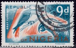 Nigeria, 1965-66, Gray Parrots, 9p, Sc#191, Used - Nigeria (1961-...)