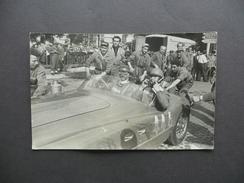 Fotocartolina Mille Miglia Ferrari 2000 Rifornimento Conte Sterzi Bologna 1953 - Photos