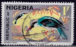 Nigeria, 1965-66, Kingfishers, 1sh, Sc#192, Used - Nigeria (1961-...)
