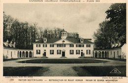 PARIS - Exposition Coloniale Internationale 1931 - Reproduction Du Mount Vernon - Maison De George Washington - Tentoonstellingen