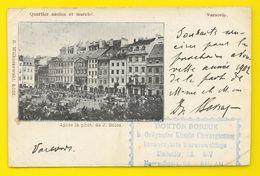 VARSOVIE Rare Quartier Ancien Et Marché (Wilkoszewaki Golcz) 1901 - Polen