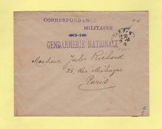 Gendramerie Nationale - Correspondance Militaire - Tarbes - 26-10-1916 - Poststempel (Briefe)